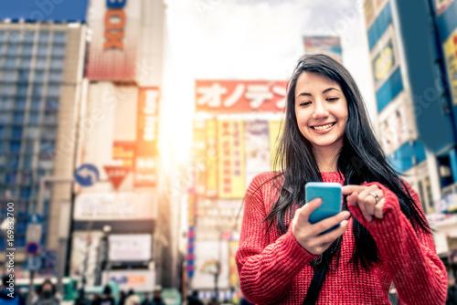 Fotobehang Tokio Beautiful woman in Tokyo