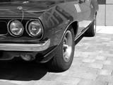 Amerikanisches Muscle Car der Siebzigerjahre mit Doppelscheinwerfer und