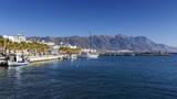 Harbour of Kardamena village and mountains of Kos island, Greece.  - 169835538