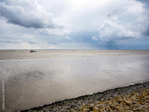 Aluminium Noordzee Wattenmeer und Fahrwasser an der Nordsee, Deutschland