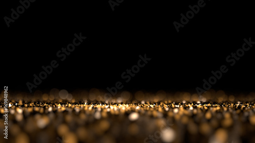 Glitter black isolated background. 3d illustration, 3d rendering. - 169848962