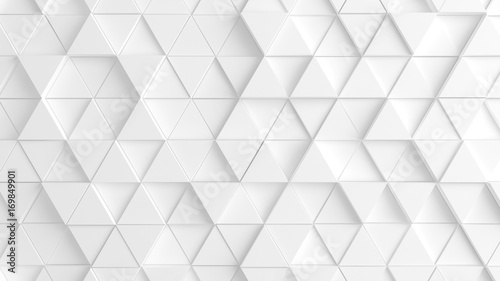 White background with triangles. 3d image, 3d rendering. © Pierell