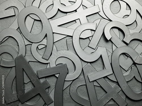 Poster Random arrangement of metal texture