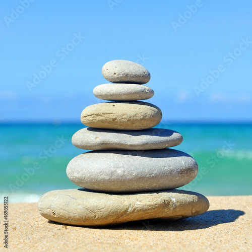 Foto op Canvas Zen Zen inspiration, stones pyramid in balance