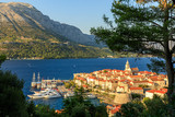Sunset view of Korcula Old Town, Croatia - 169855544