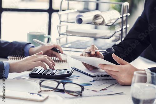Fototapeta Business people working in the office