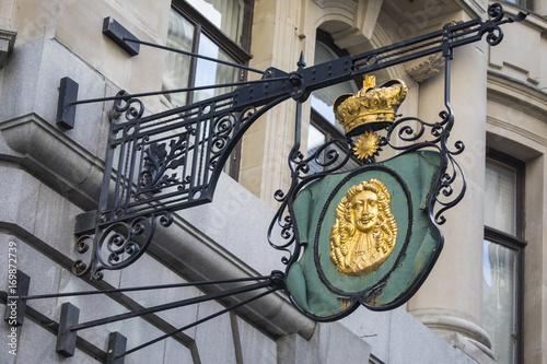 Foto op Plexiglas London London Goldsmith Sign on Lombard Street