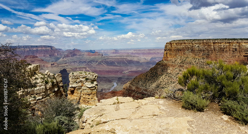 Papiers peints Beige Grand Canyon with River