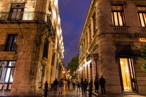 Foto op Canvas Havana Habana's night