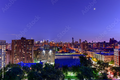 Foto op Aluminium Donkerblauw New York City Skyline