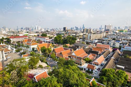 Fotobehang Bangkok Bangkok city skyline view