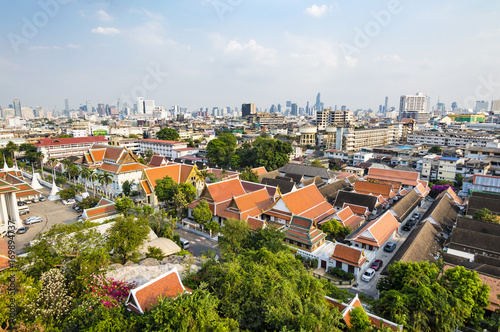 Bangkok city skyline view Poster