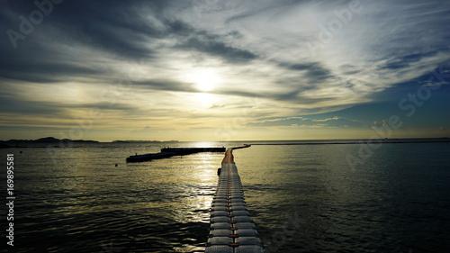 Fotobehang Pier sunset