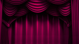 Beautiful, abstract background with curtain fabric, drape, pedestal, banner, frame. 3d illustration, 3d rendering.