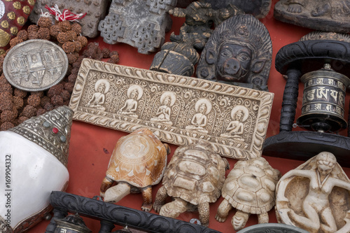 Wooden And Clay Handicraft Souvenirs At Old Flea Market Kathmandu