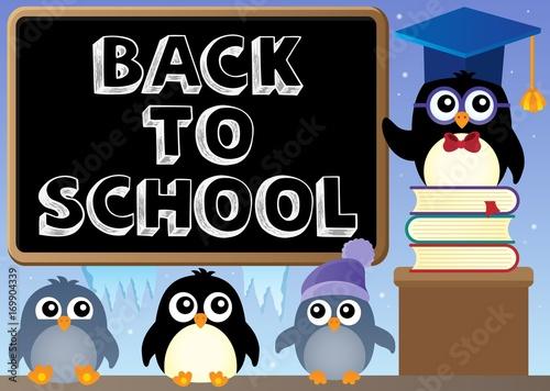 Papiers peints Enfants Back to school topic 8