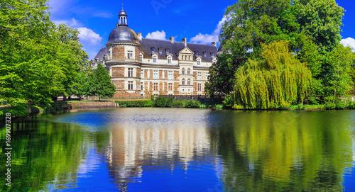 Fotobehang Freesurf Great castles of Loire Valle - beautiful elegant Chateau de Serrant. France