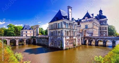 Fotobehang Freesurf Beautiful castles of Loire valley - elegant Chateau de Serrant. France