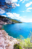 View of Adriatic Sea and quiet majestic bay in Dalmatia - 169913125