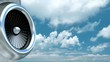 Panning camera of the corporate or business jet engine against blue cloudy sky 3D animation and live footage combination