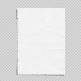 Empty white paper sheet crumpled