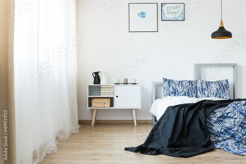Floral pattern bedding Poster