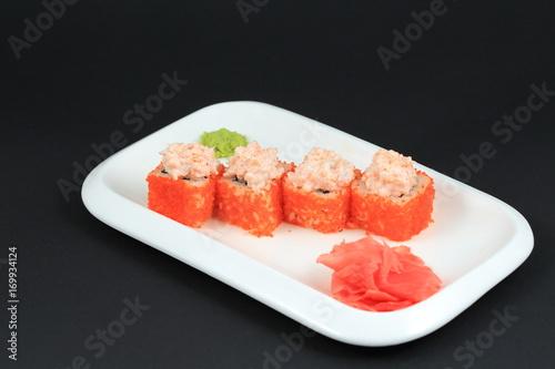 Fotobehang Sushi bar Japanese seafood sushi