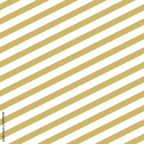 Stylish striped background with slanted lines in gold. Seamless vector pattern - 169949395