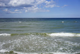 seascape on the Baltic sea on a bright Sunny day in calm - 169959354