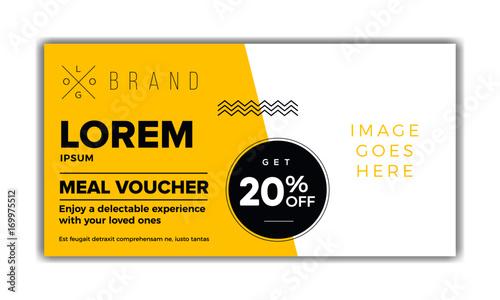 meal voucher template coupon design ticket banner modern