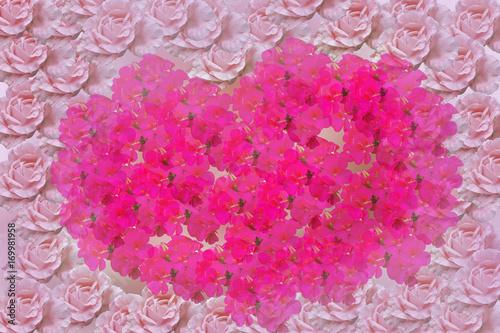 Fotobehang Roze group of flower