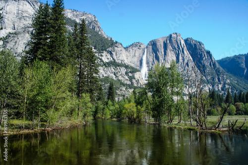 Yosemite Falls Ahwahnee Meadow Spring Poster