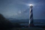 A lighthouse under night sky - 169983750