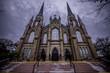 Outside Basilica Cathedral Saint-Dunstan at Charlottetown, Prince Edward Island
