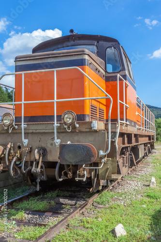 Fotobehang Spoorlijn locomotive diésel