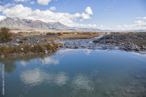 Fotobehang Bergrivier Hovd River, Mongolia