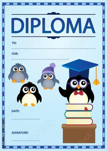 Fotobehang Voor kinderen Diploma template image 1