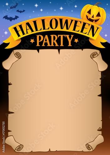 Fotobehang Voor kinderen Halloween party parchment theme 1