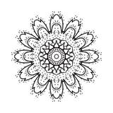 Simple geometric mandala, patterned Indian paisley. vector illustration