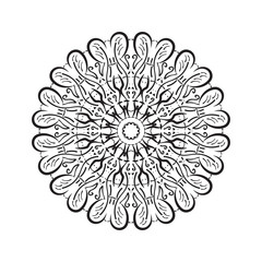 flower mandala, patterned Indian paisley. geometric vector illustration