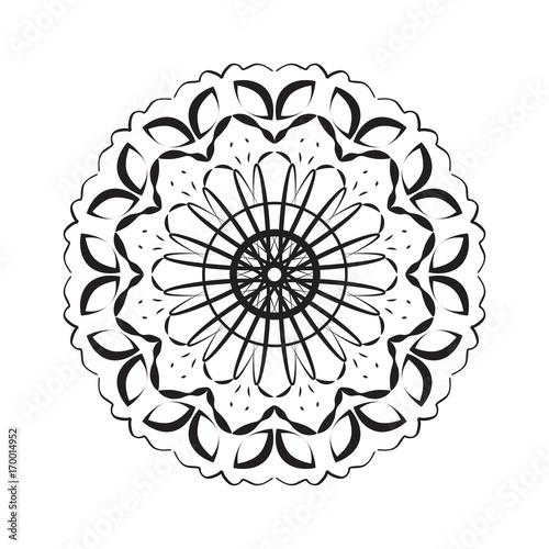 flower mandala, patterned Indian paisley. geometric vector illustration
