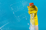 Detergent for cleaning in a female hand - 170019704
