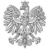 Poland eagle, polish national coat of arm, detailed vector illustration.