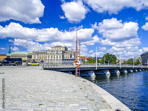 Aluminium Stockholm Stockholm, Stadtansicht, Königliche Oper, Schweden