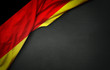 Flag of Germany on blackboard