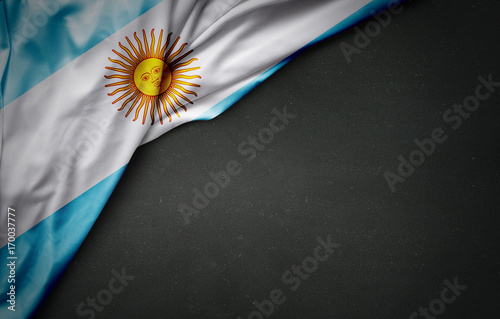 Papiers peints Buenos Aires Flag of Argentina on blackboard