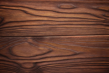 Natural dark wooden background. Wood planks texture.