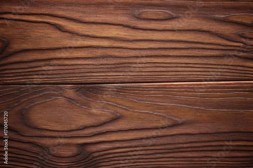 Natural dark wooden background. Wood planks texture.