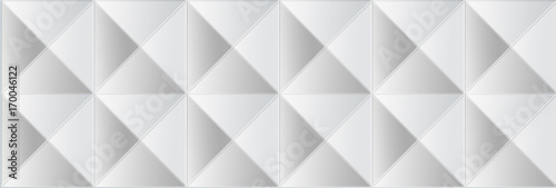 geometric white texture on a white background. - 170046122