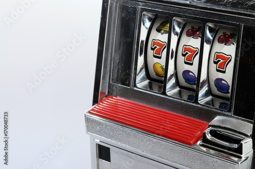 Slot machine and jackpot three seven Poster